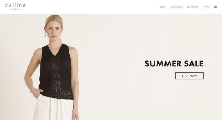 Callina http://shopify.cool/apparel/callina/?utm_campaign=coschedule&utm_source=pinterest&utm_medium=Shopify%20Cool&utm_content=Callina