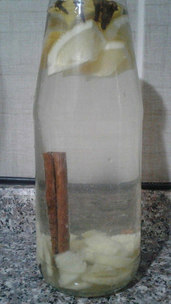 Elma sirkeli detoks 1 kapak elma sirkesi 1 cubuk tarcin 12 karanfil 2 dilim kok zencefil 1 gece beklet.
