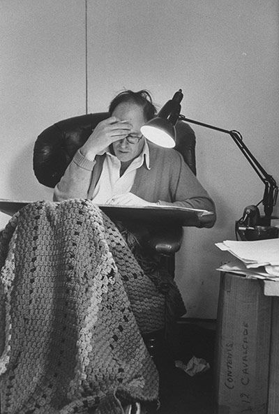 "Roald Dahl working ""Charlie and the Chocolate Factory"", ""James and the Giant Peach"", ""Matilda"", ""The Witches"""