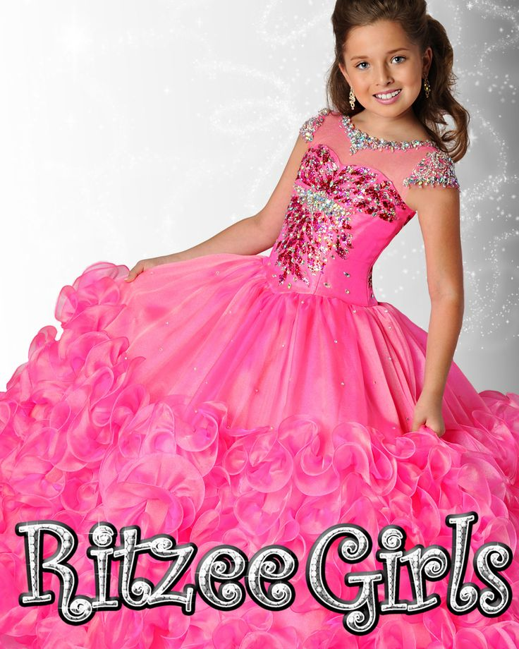 Ritzee Girls Pageant Dress 6910 Little Girls Pageant