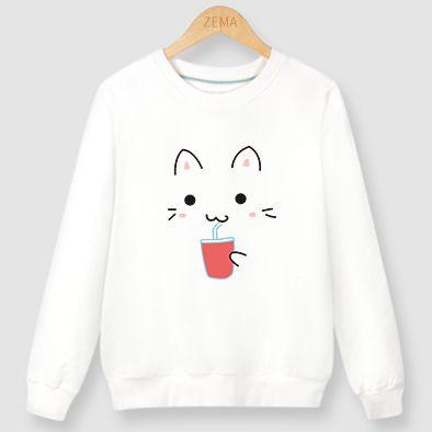 Cute kawaii cat printing t-shirt SE9117
