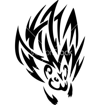 Porcupine in tribal style - vector 746432 - by dclipart on VectorStock®