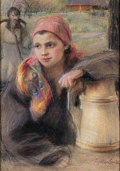 Teodor_Axentowicz_dziewczyna_huculska.jpg (417×591)
