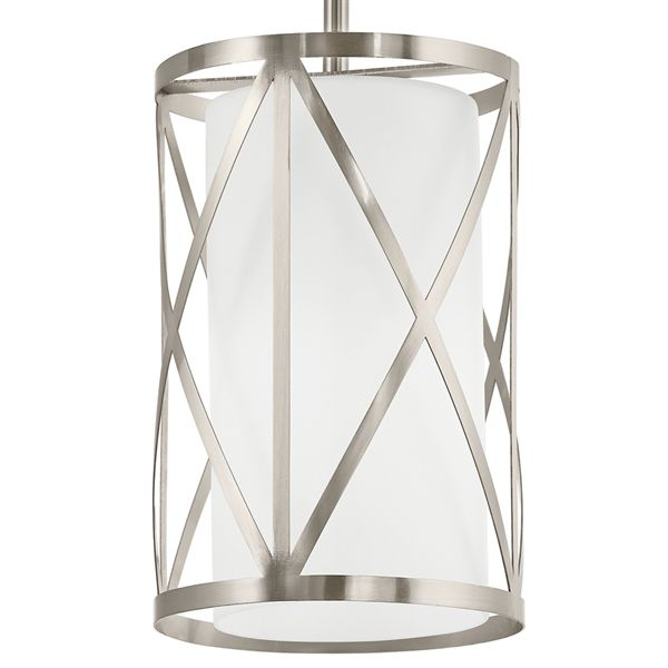 Shop Kichler Lighting  Edenbrook 6.46-in W Brushed Nickel Mini Pendant Light…