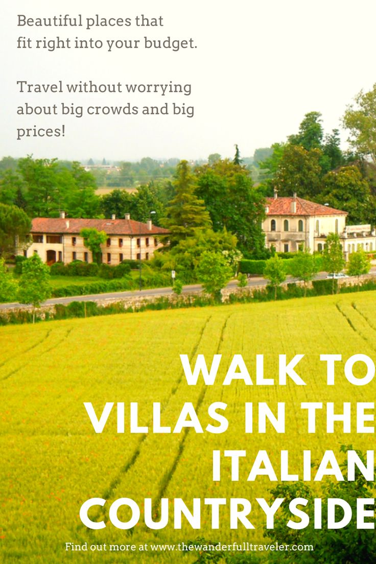 Walk to Villas in the Italian Countryside from Vicenza ...