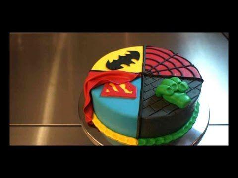 Superhelden Torte - 4 in 1 Superhero Torten Tutorial - Kuchenfee - YouTube