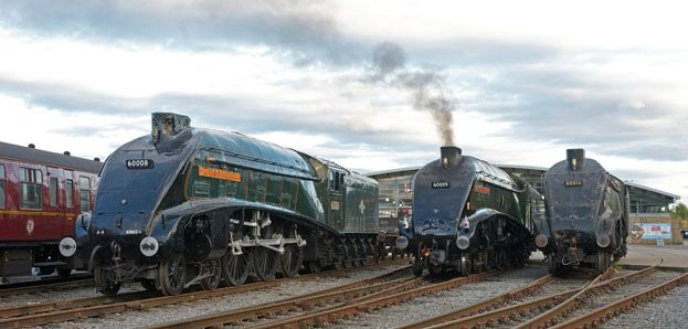 Railway Herald :: Three A4s back together at Shildon