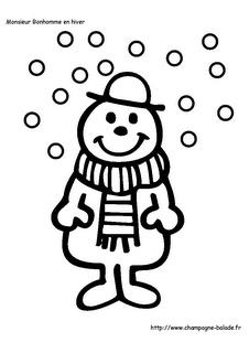 Monsieur bonhomme et les flocons de neige, maternelle