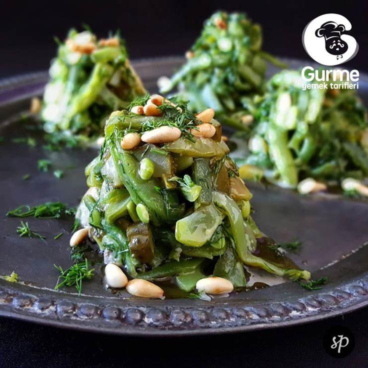 Taze Fasülye Salatası - Pratik Yemek Tarifleri. Gurme resimli kolay pratik Taze Fasülye Salatası nasıl yapılır yapılışı yapımı hazırlanışı