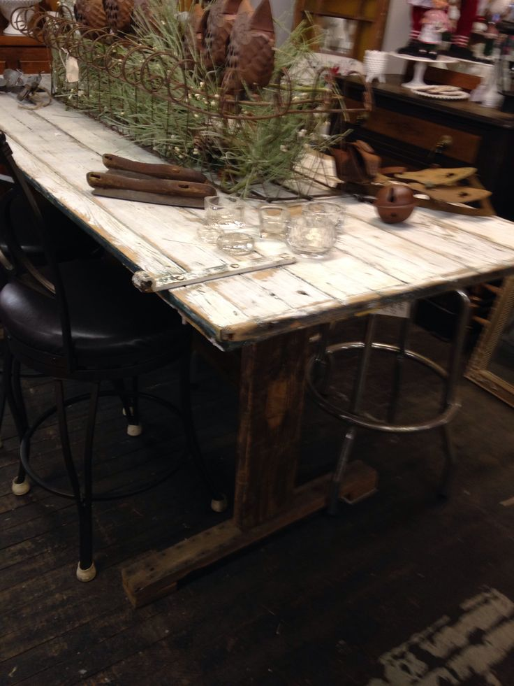 Salvage Angel barn door dining table | Dining Room | Pinterest