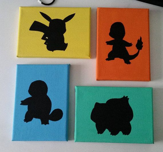 Pokemon Silhouette Canvas Pok 233 Mon Silhouettes And Canvases