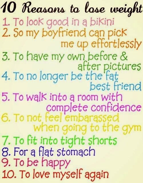Losing Weight: 10 reasons to lose weight