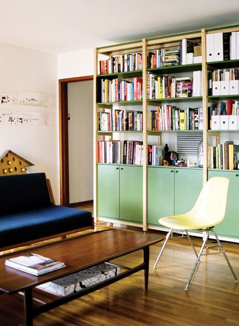 scout regalia's line of simple, clean furniture. love this bookcase seen in their echo park home/studio, seen on designsponge.