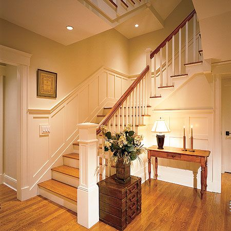 Wainscoting!Decor Ideas, Stairs, Wood, Dreams, Wainscoting, Trim Work, House, Staircas Remodeling, Design Layout
