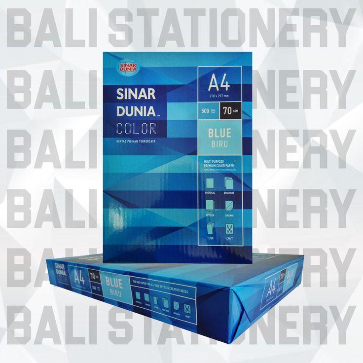 Kertas HVS A4 70 GSM biru Sinar Dunia