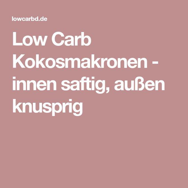 Low Carb Kokosmakronen - innen saftig, außen knusprig