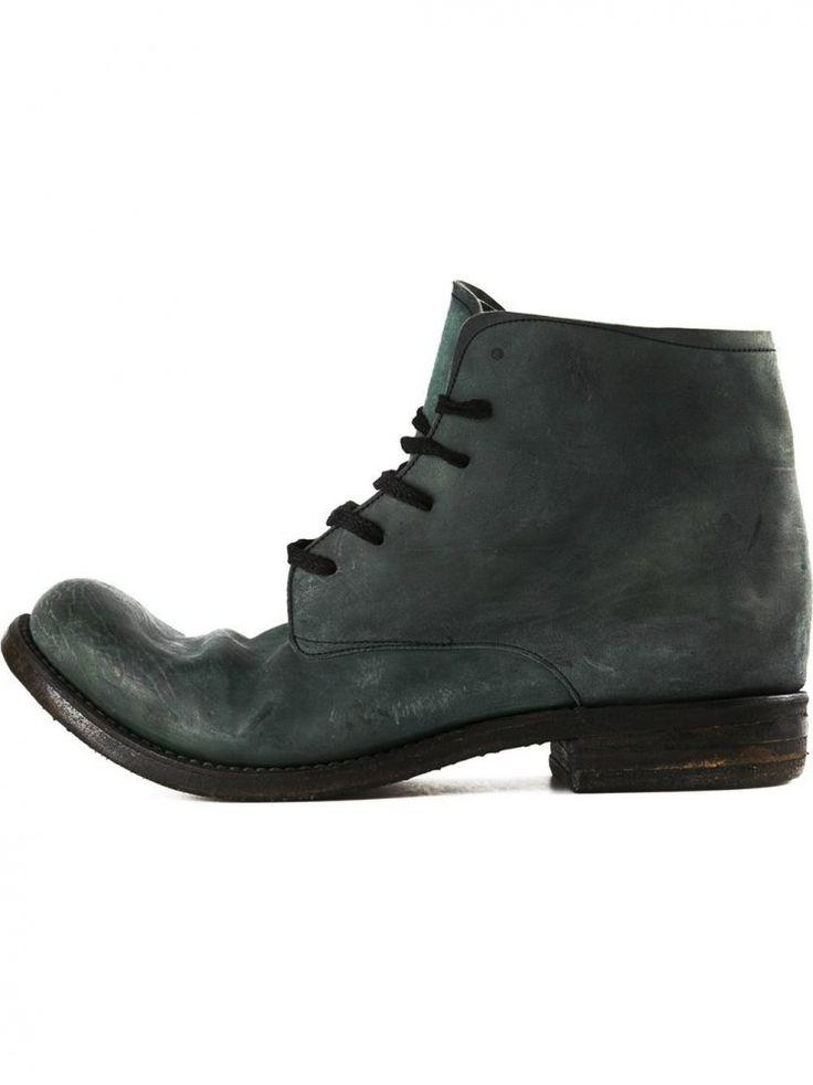 A DICIANNOVEVENTITRE - Structured Horse Leather Work Boot - AW14/15 SP2 CULATTA ALGA - H. Lorenzo