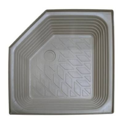 """ATLAS extra deep plastic shower tray with angled corner SIZE: 27"""" x 27"""" x 8"""" Ivory"""