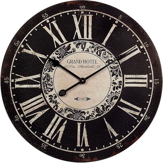 This lovely wall clock comes in a Provence style perfect for any decor.