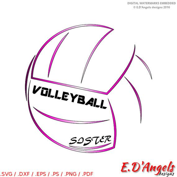 Volleyball Sister  SVG files  Cricut designs  Volleyball