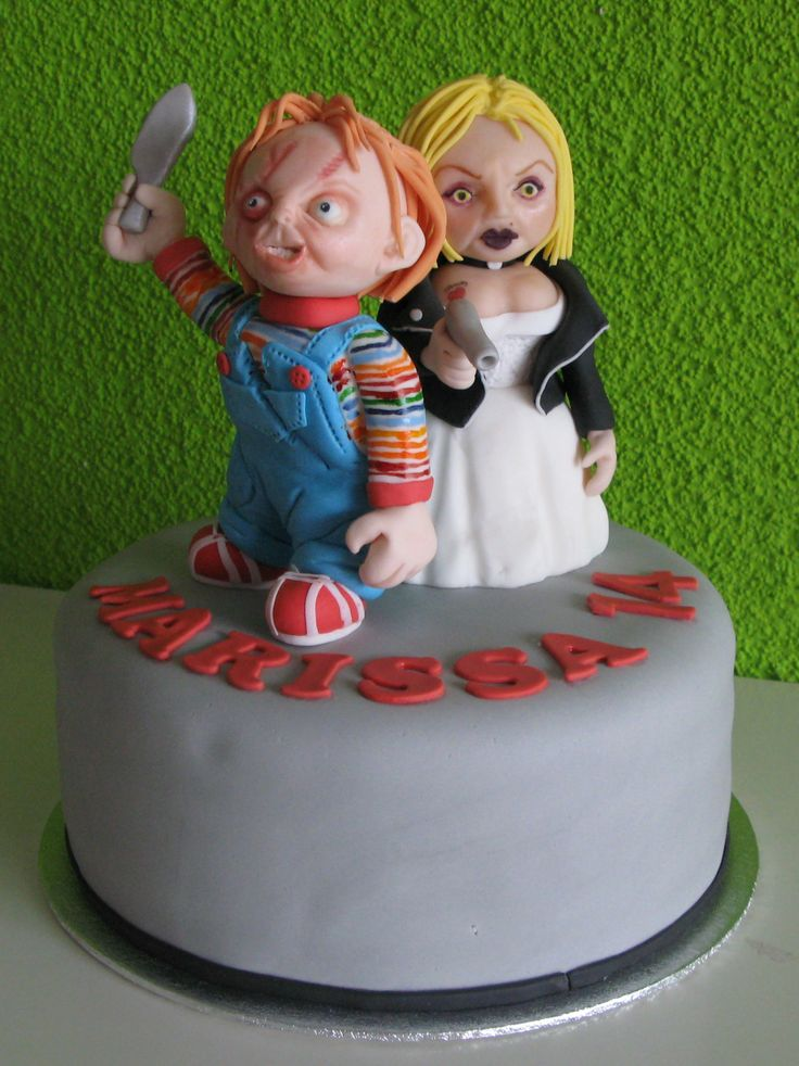 Chucky And Bride Cake Taartmama Nl My Own Creations