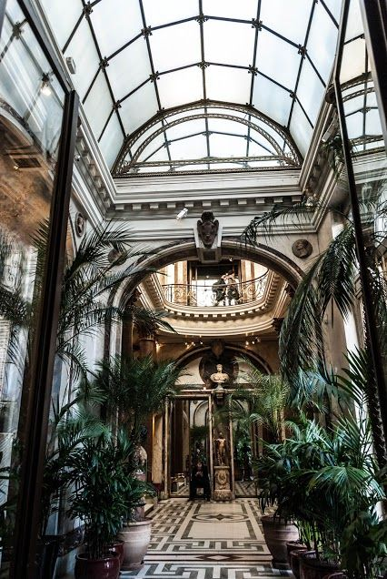 The conservatory of the museum Jacquemart André, Paris