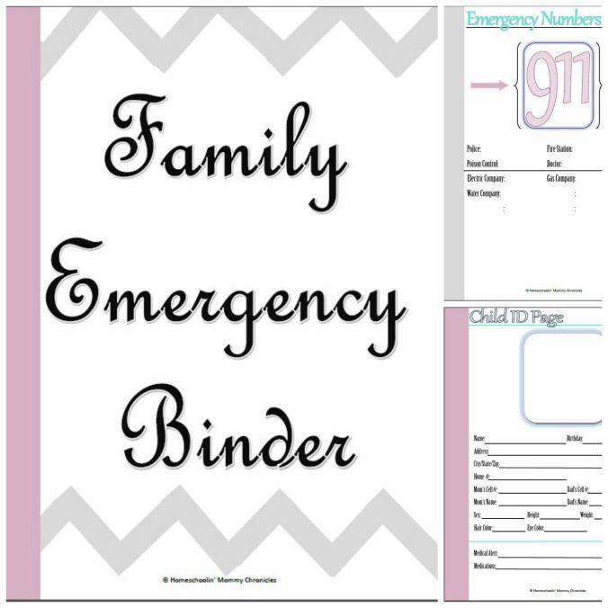 Emergency Binder {Free} Printables!