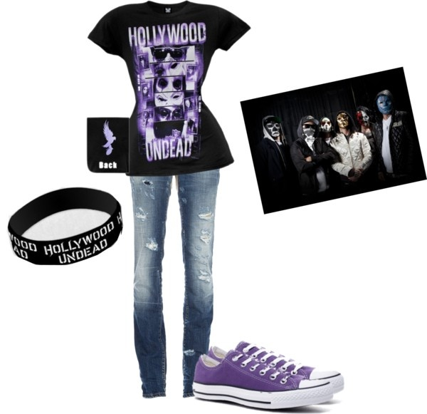 """Hollywood Undead"" by karalynn-roll ❤ liked on Polyvore"
