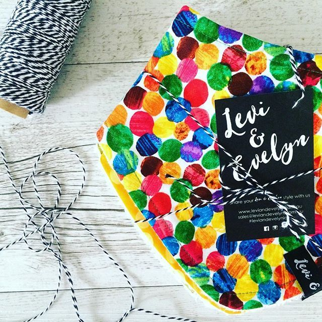 Posting out these beautiful orders today... #leviandevelyn #leviandevelynlove #bandanabib #baby #babyshowergift #spots #hungrycaterpillar