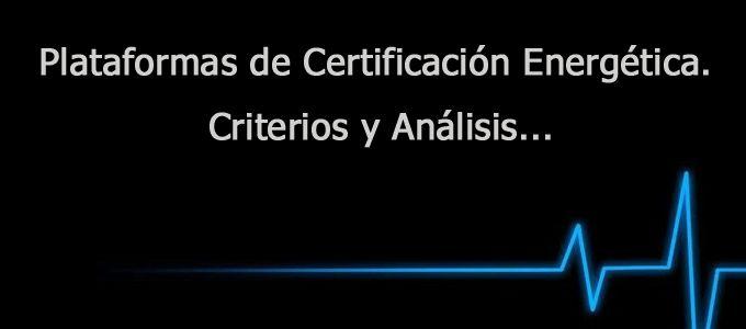 Plataformas de #certificacion energética Análisis