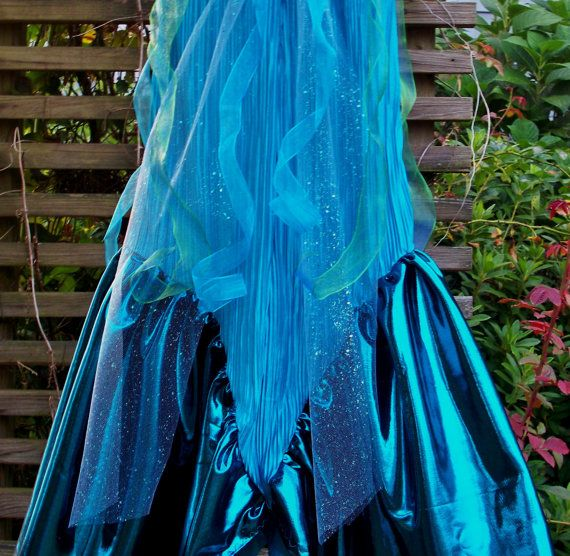 STUNNING MERMAID COSTUME Child Size 4 to 5 by WhimsyWithSass, $55.00