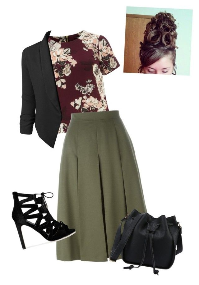 Untitled #816 by bye18 on Polyvore featuring polyvore fashion style Dorothy Perkins LE3NO Alexander McQueen clothing