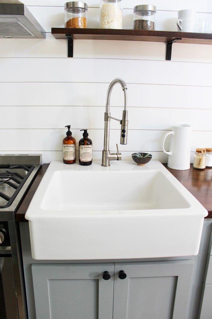 Everest By Mustard Seed Tiny Homes Tiny Living Kitchen Sink Remodel Kitchen Remodel Diy Kitchen Renovation