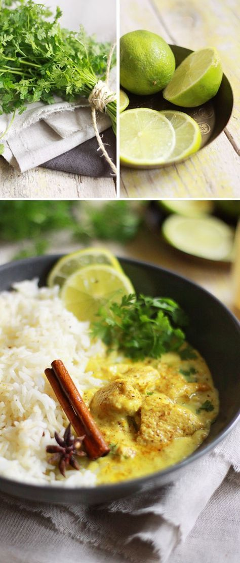 *Testée* Filets de poulet à l'indienne curry / lait de coco / coriandre - il y a du bon,simple à faire mais trop citronné