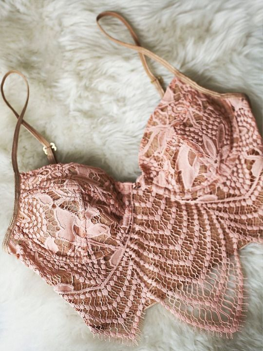 nude pink lace strappy corset bralette---20+ Fabulous Lingeries(bodysuits) You Still Need In Fall and Winter.