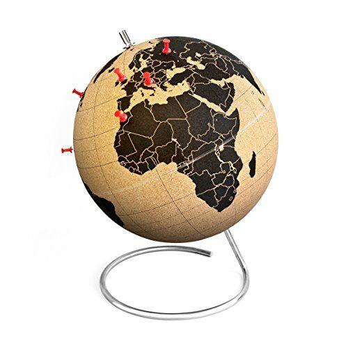 Shop // Mini-Kork-Globus. Pinne deine Wunschreiseziele und erlebten Reisen auf deinem ganz persönlichen Korkglobus.