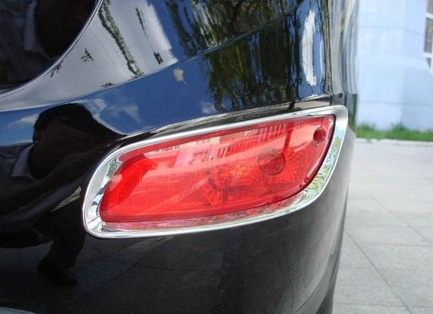 Free shipping! For Hyundai Santa Fe 2010 2011 ABS Chrome Rear Tail Fog Light Lamp Cover Trim