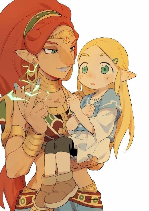 Legend of Zelda Breath of the Wild by @asdiandyx   -Urbosa with her little bird