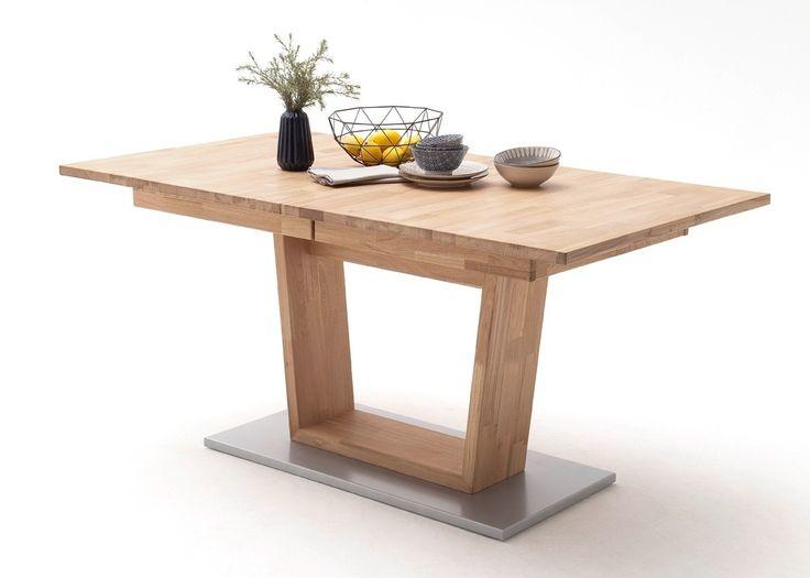Tisch Cassandra 160x90 Esstisch Ausziehbar Eiche Bianco Massiv 22432. Buy  Now At Http:/