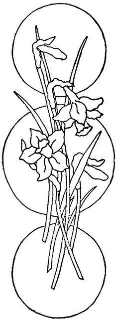 1886 Ingalls Iris on Circles by jeninemd, via Flickr