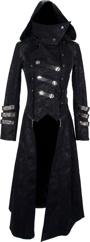 Women's transformable coat by Punk Rave. I constantly fall for asymmetrical things!