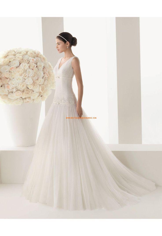 Robe de mariée 2014 tulle dentelle col V  Robe de mariée 2014 ...
