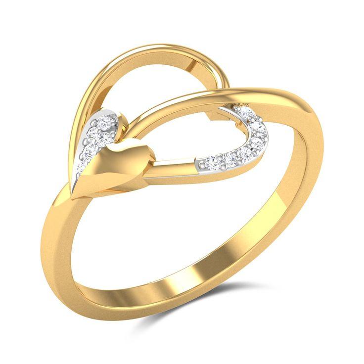 Dacia Diamond Studded Gold Ring