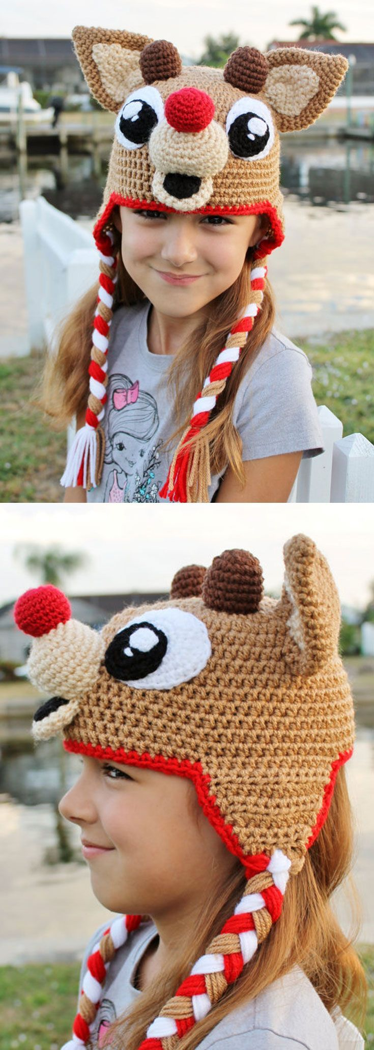 How cute is this adorable Rudolph hat? I love everything about it - the nose, the cute little antlers, and the big eyes! This would make a great accessory for Christmas photo shoots! (affiliate link)