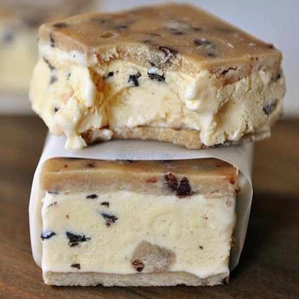 """These cookie dough ice cream sandwiches are going crazy across the web right now and for good reason. They are ridiculously yummy. Search for """"cookie dough ice cream sandwiches"""" on the blog and you'll find 'em. I kind of feel like I should apologize in advance. #sorrynotsorry #cookiedoughismylife #eggfree #ifyoumakethemiwillcome"""