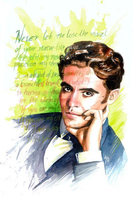Ken Meyer, Jr. - portrait of Federico Garcia Lorca