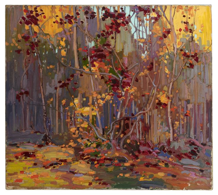 """Tom Thomson  Sketch for """"Maple Saplings, October"""", Fall 1915"""