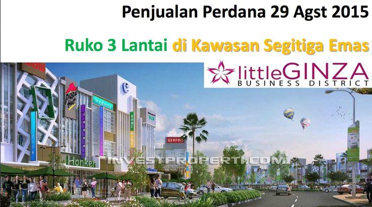 Penjualan perdana ruko 3 lantai Little Ginza CitraRaya Cikupa 29-Agustus-2015