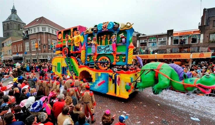 Each year we celebrate a carnival with parades full of disguised people and vehicles. The celebration is more common in the south of the Netherlands compared to the rest.