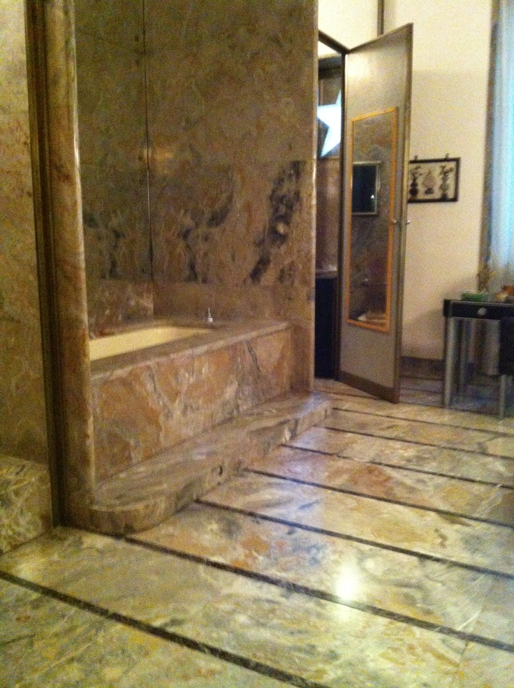 Master bath at the Villa Necchi Campiglio  Milano